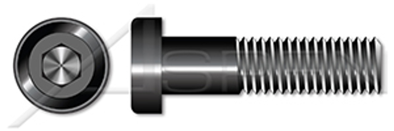 "#10-24 X 1/2"" Low Head Socket Cap Screws with Hex Drive, Alloy Steel, Plain, Unbrako"
