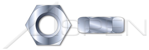 #1-72 Hex Machine Screw Nuts, Zinc Plated Steel