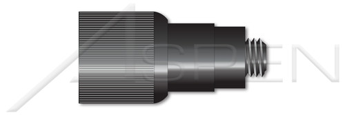 """#10-32 X 0.37"""", THK=0.187"""" Retractable Captive Panel Fasteners, Flare In Style, Slotted Drive, Black Finish"""