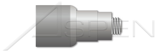 """#10-32 X 0.37"""", THK=0.125"""" Retractable Captive Panel Fasteners, Flare In Style, Slotted Drive, Natural Finish"""