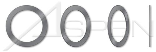 ID=4mm, OD=8mm, THK=0.1mm DIN 988, Metric, Precision Shim Rings, Spring Steel, Hardened, Plain