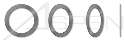 ID=4mm, OD=8mm, THK=1mm DIN 988, Metric, Precision Shim Rings, Spring Steel, Hardened, Plain