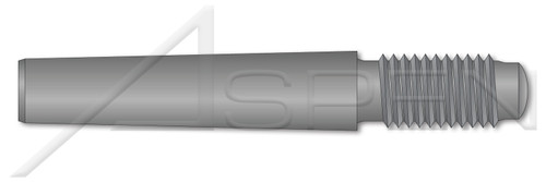 M12 X 75mm DIN 7977 / ISO 8737, Metric, Externally Threaded Tapered Pin, AISI 12L13 Steel