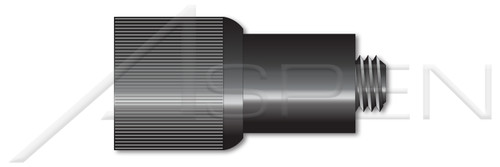 """#8-32 X 0.22"""", THK=0.036"""" Retractable Captive Panel Fasteners, Press In Style, Slotted Drive, Black Finish"""