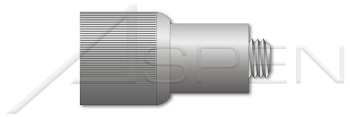 """#8-32 X 0.41"""", THK=0.036"""" Retractable Captive Panel Fasteners, Press In Style, Slotted Drive, Natural Finish"""