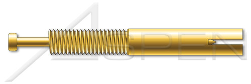 "3/8"" X 2-3/8"" Expansion Pin Anchors, Steel, Yellow Zinc"