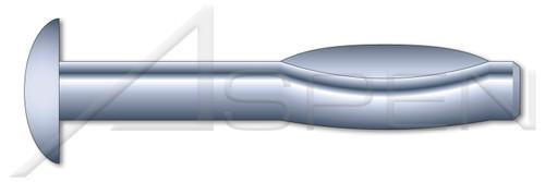"3/8"" X 2"" Split Drive Anchors, Round Head, High Alloy Steel, Zinc"