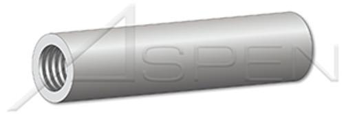 """#8-32 X 1"""" Round Female Standoffs, 1/4"""" Diameter, Aluminum"""