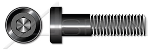 "#10-24 X 1/2"" Low Head Socket Cap Screws with Hex Drive, UNRC Coarse Threading, Alloy Steel, Black Oxide Coated, Holo-Krome"