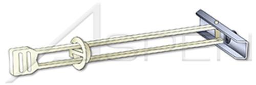 "1/4"" KapToggle Hollow Wall Anchors, Steel, Zinc Plated"