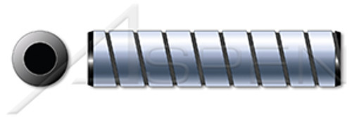 """3/8"""" X 3"""" Vented Pull Dowel Pins, Spiral, Alloy Steel, Holo-Krome"""