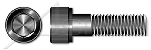 "#0-80 X 3/16"" Hex Socket Head Cap Screws, UNRF Fine Thread, Alloy Steel, Black Oxide, Holo-Krome"
