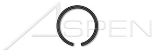 M48 DIN 7993A, Metric, External Snap Rings, Spring Steel