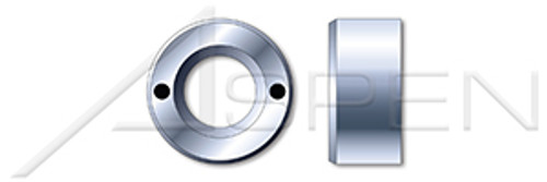 M10-1.5 DIN 547, Metric, Round Nuts, Drilled Holes, Steel, Zinc Plated