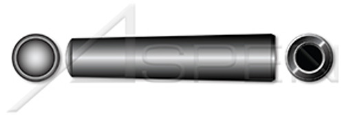 M8 X 60mm DIN 7978 / ISO 8736, Metric, Internally Threaded Tapered Pin, AISI 12L13 Steel