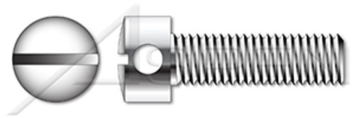 M3-0.5 X 12mm DIN 404, Metric, Capstan Screws, Slotted Drive, AISI 303 Stainless Steel (18-8)