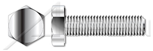 M10-1.5 X 40mm DIN 933, Metric, Hex Head Cap Screws Bolts, Full Thread, A4-80 Stainless Steel