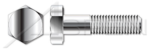M12-1.75 X 65mm ISO 4014, Metric, Hex Head Cap Screws Bolts, Part Thread, A2 Stainless Steel