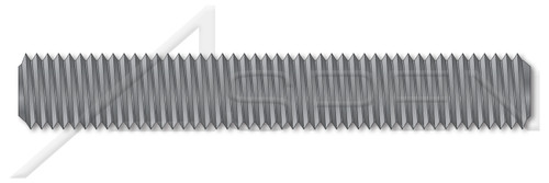 "7/8""-9 X 6"" B7 Studs, Full Thread, Grade B7 Alloy Steel, Alloy Steel, Plain"