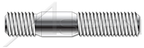 M8-1.25 X 40mm DIN 939, Metric, Double-Ended Stud with Plain Center, Screw-in End 1.25 X Diameter, A4 Stainless Steel