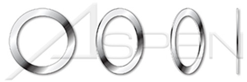 M12, THK=0.1mm DIN 988, Metric, Precision Shim Rings, A2 Stainless Steel
