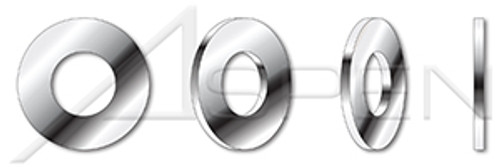 "#0, THK=0.032"" Flat Washers, Regular Series, 18-8 Stainless Steel, NAS 1149, DFARS"