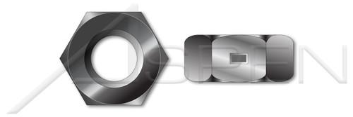#10-24 2-Way Reversible Lock Nuts, Finished Nut Pattern, Steel, Black Zinc