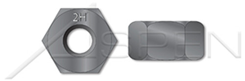 """1-1/4""""-7 Hex Heavy Nuts, Single Chamfered, Washer Faced, Grade 2H Steel, Plain, ASTM A194"""
