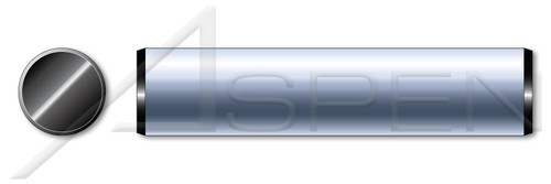 "1"" X 2-1/2"" Solid Dowel Pins, Alloy Steel, Ebony Finish, Made in U.S.A."