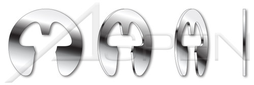 "0.094"" E-Retaining Rings, 15-7 Mo Stainless Steel"