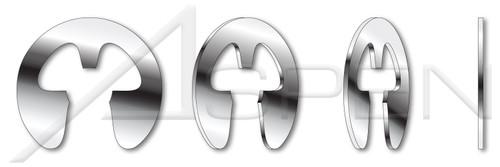 "0.156"" E-Retaining Rings, 15-7 Mo Stainless Steel"