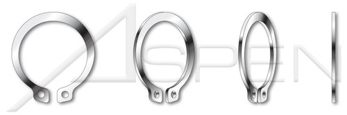 "0.250"" External Retaining Rings, 15-7 Mo Stainless Steel"