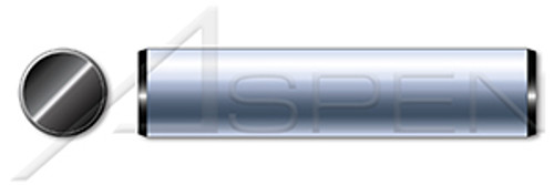 """1"""" X 2"""" Solid Dowel Pins, Ground to 0.0002"""", Alloy Steel, Black Oxide, Made in U.S.A."""