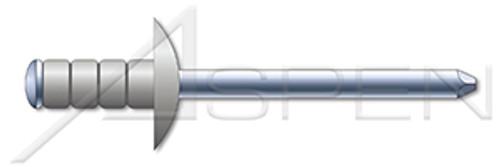 "1/8"", Grip=0.062""-0.250"" Multigrip Rivets, Aluminum Body / Steel Pin, Dome Head, Zinc Plated Pin"