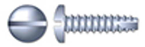 """#10 X 1"""" Type 25 Thread Cutting Screws, Pan Head with Slotted Drive, Zinc Plated Steel"""