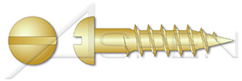 #9 X 1-1//2 Wood Screws Flat Slot Brass 30 pcs
