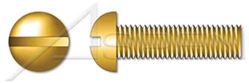 "#0-80 X 1/16"" Machine Screws, Round Slot Drive, Full Thread, Brass"