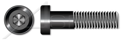 "#10-24 X 3/4"" Low Head Socket Cap Screws with Hex Drive, Coarse Threading, Alloy Steel, Made in U.S.A."