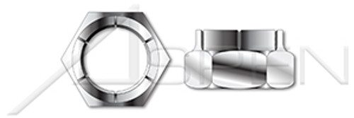 #10-24 Flex Type Lock Nuts, Light Hex, Thin Height, AISI 304 Stainless Steel (18-8)