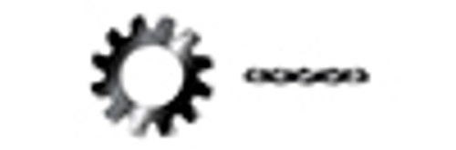 #10 Tooth Lock Washers, External Tooth Washer, 18-8 Stainless Steel, Black Oxide