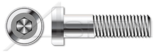 "#10-24 X 1"" Low Head Socket Cap Screws with Hex Drive, Stainless Steel 18-8"