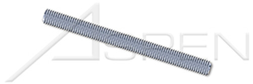 #10-24 X 3' Threaded Rods, Full Thread, Steel, Zinc Plated