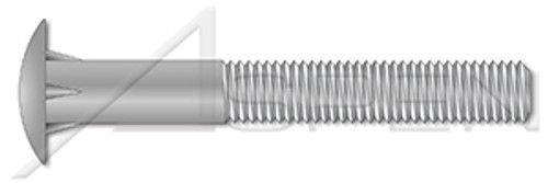 "5/8""-11 X 10"", ThreadLen=4"" Timber Bolts, Dome Head, Steel, Hot Dip Galvanized"