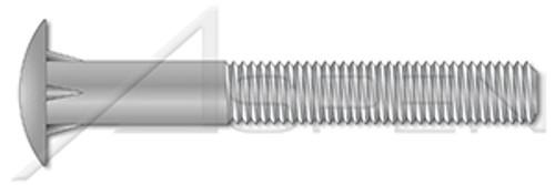 "5/8""-11 X 8"", ThreadLen=4"" Timber Bolts, Dome Head, Steel, Hot Dip Galvanized"
