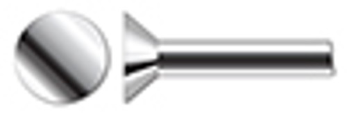 "1/4"" X 1/2"" Solid Rivets, Flat Countersunk Head, 90 Degree Countersink, AISI 304 Stainless Steel (18-8)"