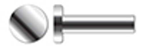 "1/4"" X 1"" Solid Rivets, Flat Head, AISI 304 Stainless Steel (18-8)"
