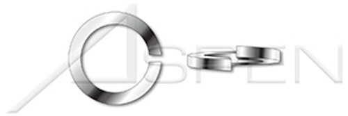 #10 Helical Spring Lock Washers, High Collar, AISI 304 Stainless Steel (18-8)