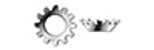 #10 Tooth Lock Washers, Countersunk External, AISI 410 Stainless Steel