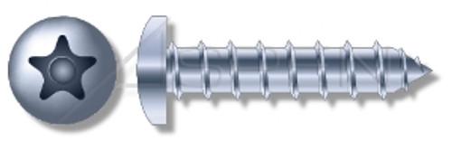 "1/4"" X 2-3/4"" Masonry Screws, Button Head Tamper-Resistant 5-Lobe ""Plus"" Pin Drive, Steel, Zinc Plated"