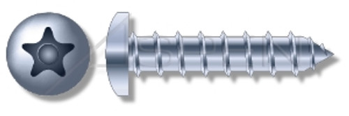 "1/4"" X 3-3/4"" Masonry Screws, Button Head Tamper-Resistant 5-Lobe ""Plus"" Pin Drive, Steel, Zinc Plated"
